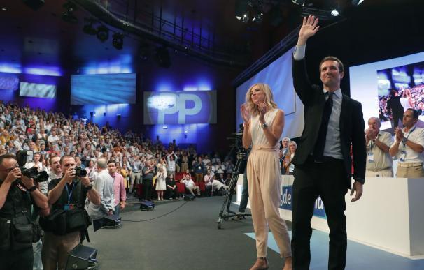 Pablo Casado tras su victoria en las primarias del PP