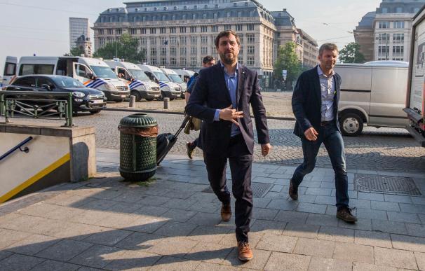 Toni Comín, antes de comparecer ante el juez belga./ EFE