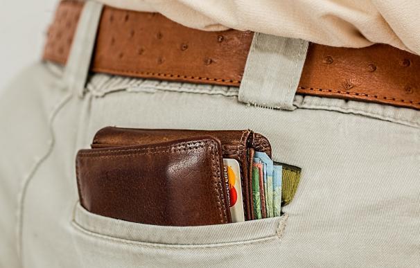 cartera con billetes y tarjetas