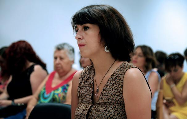 Juana Rivas, en el momento de la declaración.