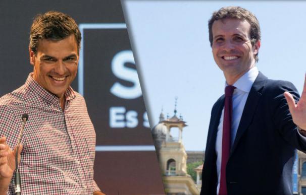 El presidente del Gobierno, Pedro Sánchez y Pablo Casado, nuevo líder del PP (Fotos: EFE)