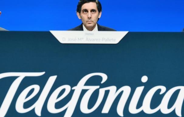 José María Álvarez-Pallete durante la junta de accionistas de Telefónica