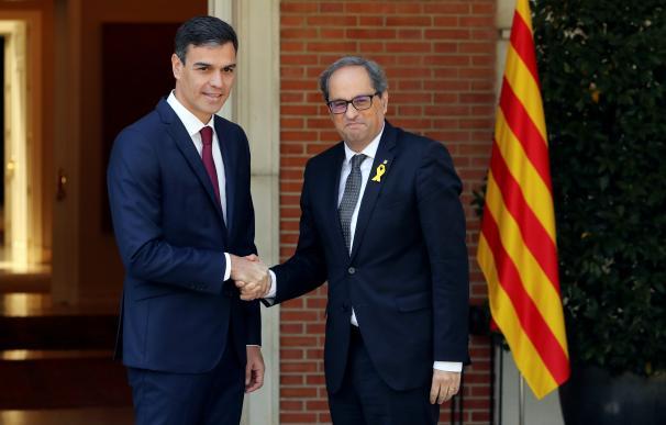 Pedro Sánchez y Quim Torra en La Moncloa