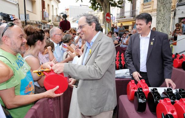 El presidente de la Generalitat, Quim Torra, en Argentona