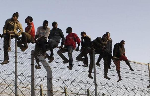 Salto a la valla de Melilla.