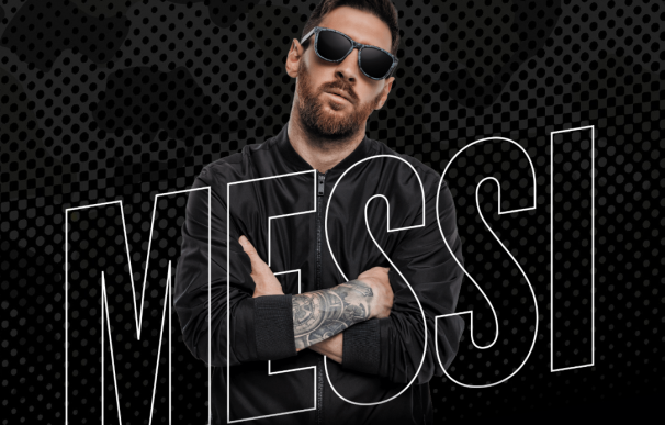 Leo Messi con las gafas de Hawkers
