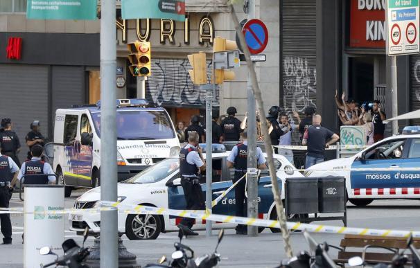 Una de las imágenes del atentado de Barcelona
