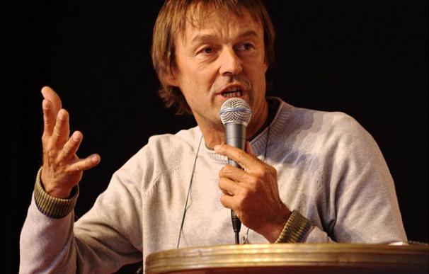 """Nicolas Hulot en la """"Fiesta de la Humanidad"""" de 2008 (Foto: Olivier """"toutoune25"""")"""
