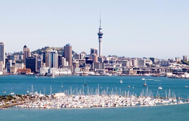Fotografía de la ciudad de Auckland en Nueva Zelanda.