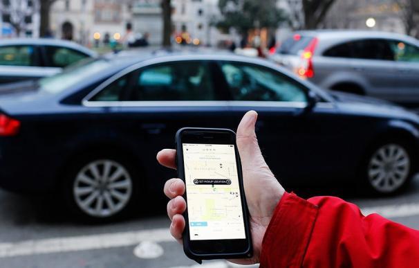 Fotografía de un Uber.