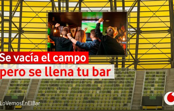 Imagen de Vodafone de la campaña #Lovemosenelbar