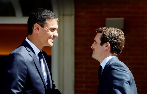Fotografía Pedro Sánchez y Pablo Casado para portada
