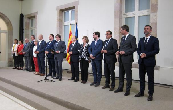 Puigdemont durante su etapa como presidente del Govern.