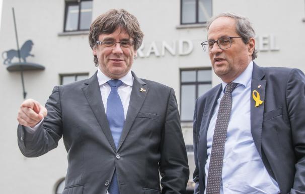 Puigdemont y Torra, en declaraciones a los medios.