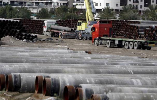 Material para el gasoducto Midcat entre Francia y España.