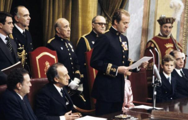 El Rey emérito, Juan Carlos I, durante la Transición