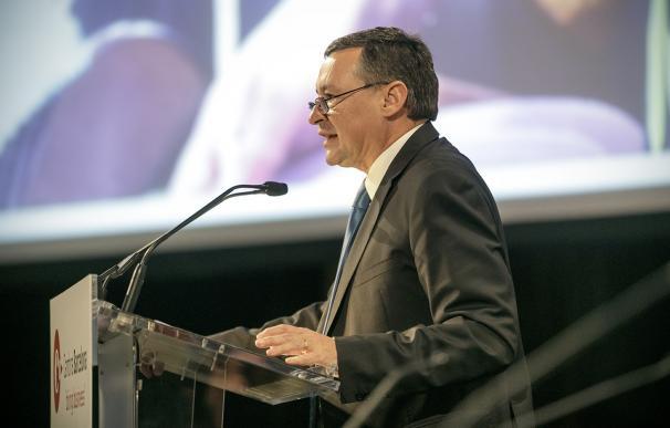 Àngel Simón (Agbar) en una conferencia de los 'Dinars Cambra'