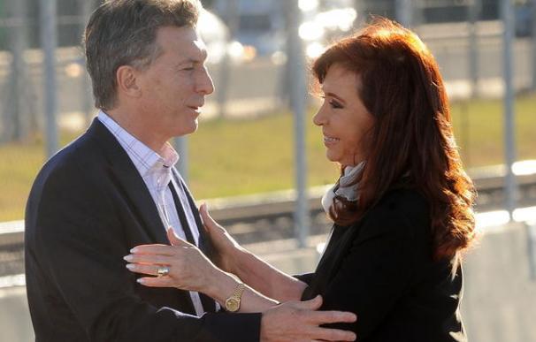 Cristina Fernández Kirchner y Mauricio Macri