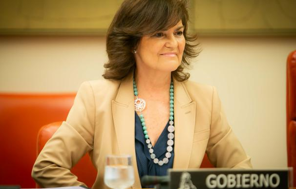 Carmen Calvo, vicepresidenta del Gobierno en imagen de archivo