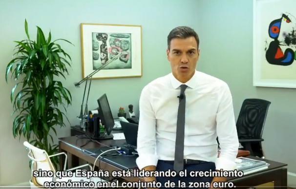 Pedro Sánchez, en el vídeo resumen de 100 días