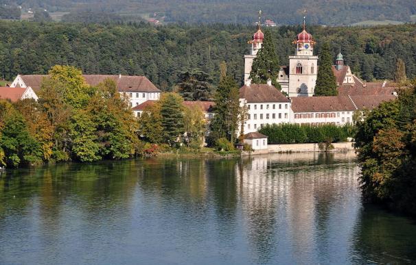 Fotografía de Rheinau, el pueblo de Suiza que aplicará la renta básica.