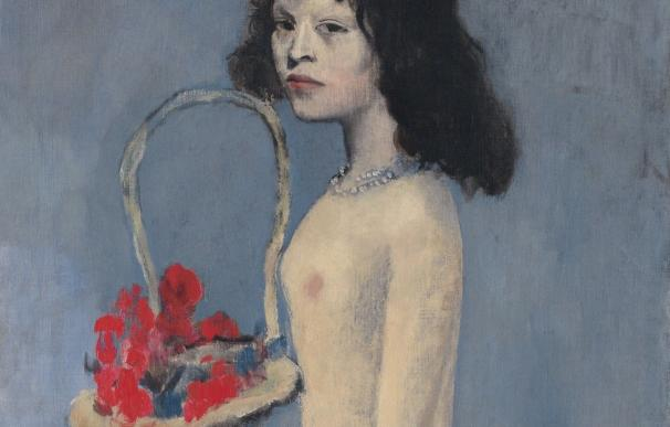 'Chica joven con cesta de flores', Picasso.