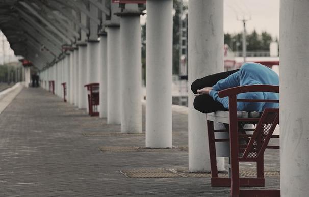 Fotografía de un vagabundo.