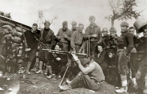 George Orwell, en el frente de Huesca