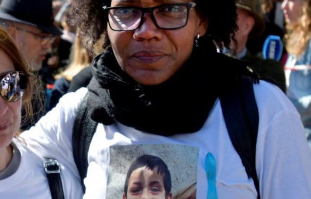 Ana Julia Quezada en la concentración de apoyo a los familiares de Gabriel.