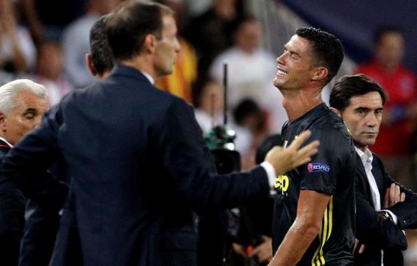 Fotografía Cristiano Ronaldo expulsado, Juventus