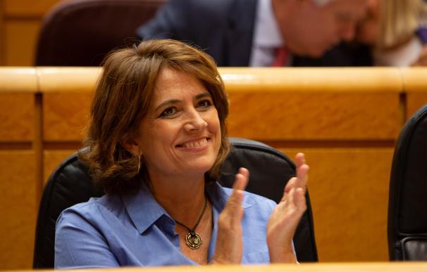 La ministra de Juscicia Dolores Delgado en el Senado