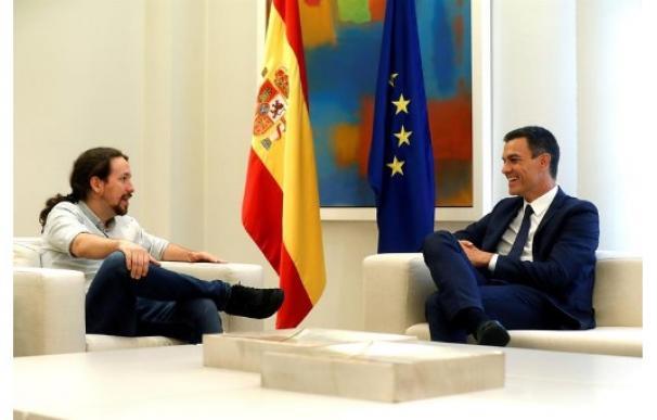 Pedro Sánchez y Pablo Iglesias / EFE