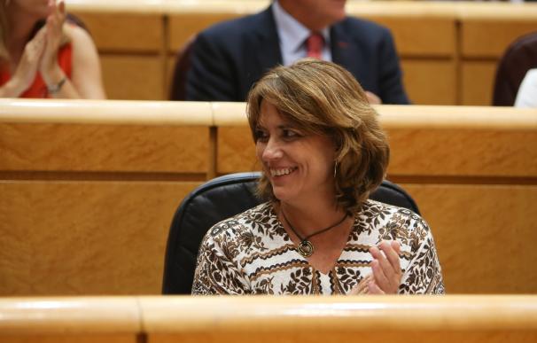 La ministra de Justicia Dolores Delgado en el Senado