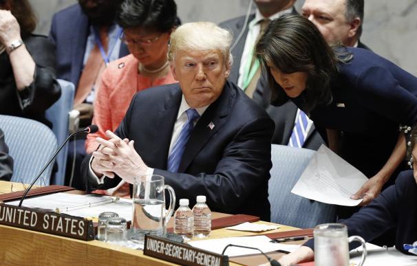 Donald Trump durante la Asamblea General de la ONU.