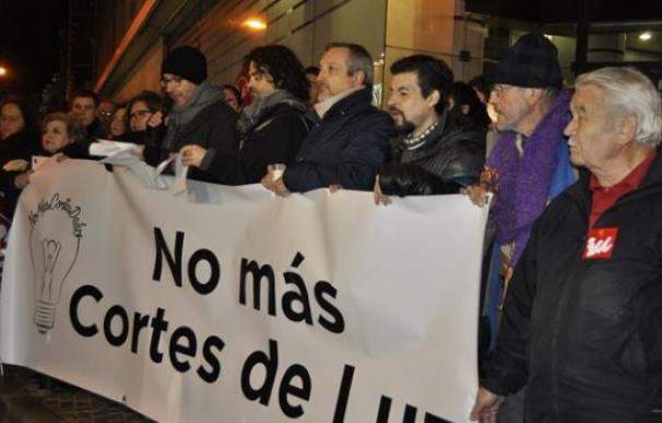 Protesta contra la pobreza energética celebrada en Zaragoza en 2017.