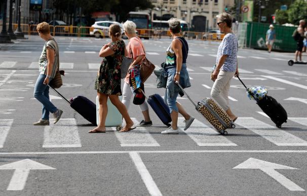 Fotografía turistas, turismo, Valencia