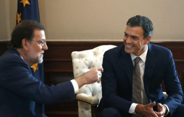Fotografía Pedro Sánchez y Mariano Rajoy