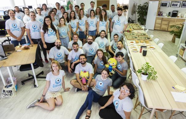 Equipo de Lingokids, en las oficinas en Madrid.