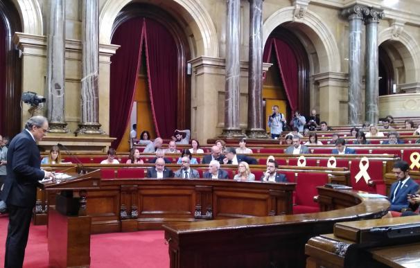 El presidente de la Generalitat Quim Torra en el Debate de Política General