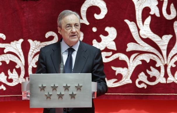 El presidente de ACS, Florentino Pérez, durante un acto en la Comunidad de Madrid.