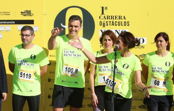 Pedro Sánchez en la carrera por la conciliación del Club Malasmadres