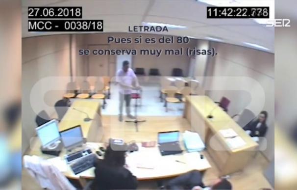 Fotograma del vídeo en el que se escuchan los insultos del magistrado (Cadena Ser)