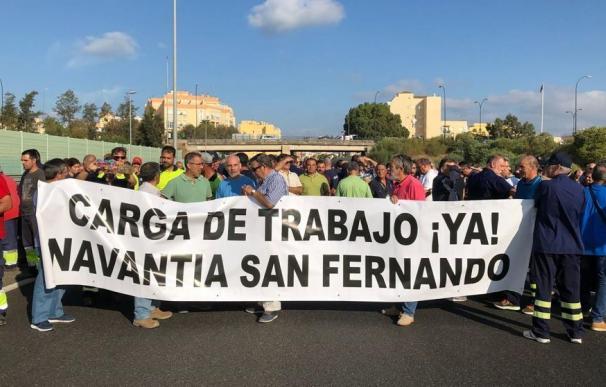 Protesta de Navantia