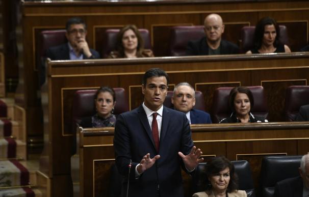 Pedro Sánchez en sesión de Control