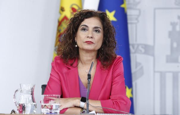 La ministra de Hacienda, María Jesús Montero, tras el Consejo de Ministros