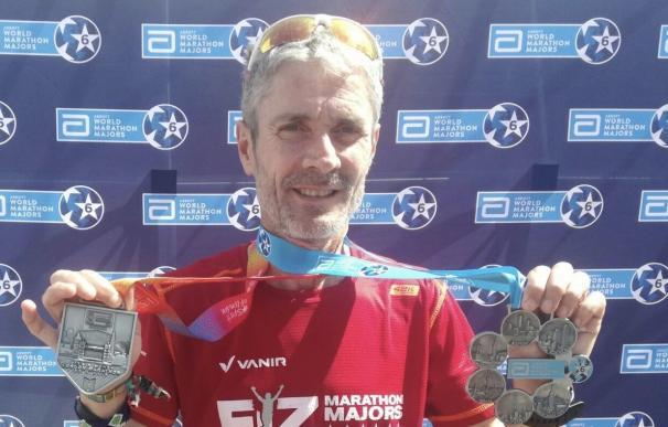 El atleta Martín Fiz en el Maratón de Londres