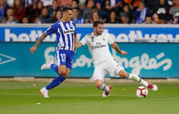 Nacho Fernández, en un partido del Real Madrid