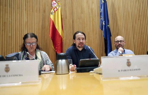 Pablo Iglesias durante el Foro 'Hacia la regulación integral del Cannabis'.
