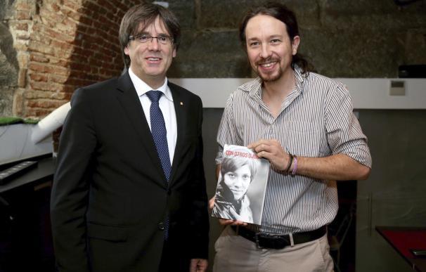 Carles Puigdemont y Pablo Iglesias en imagen de archivo | EFE
