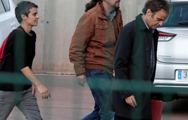 Pablo Iglesias llega a la cárcel